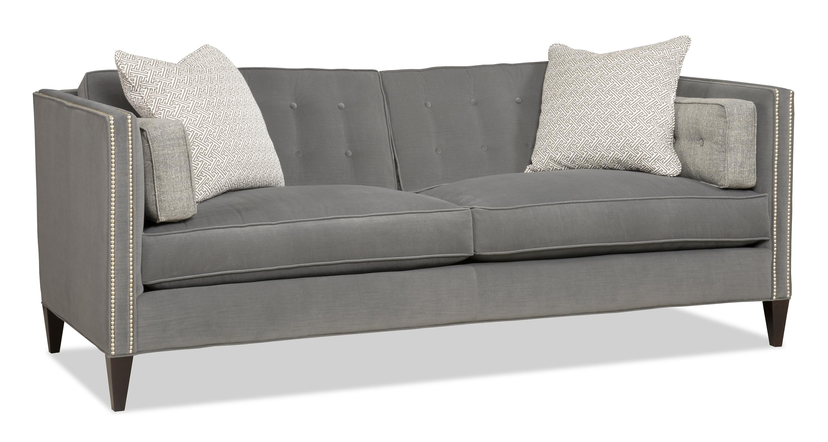Contemporary Two Over Two Sofa with Nailhead Trim by Sam Moore ...