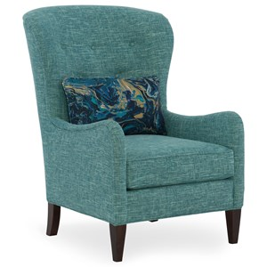 Transitional Tufted Back Chair