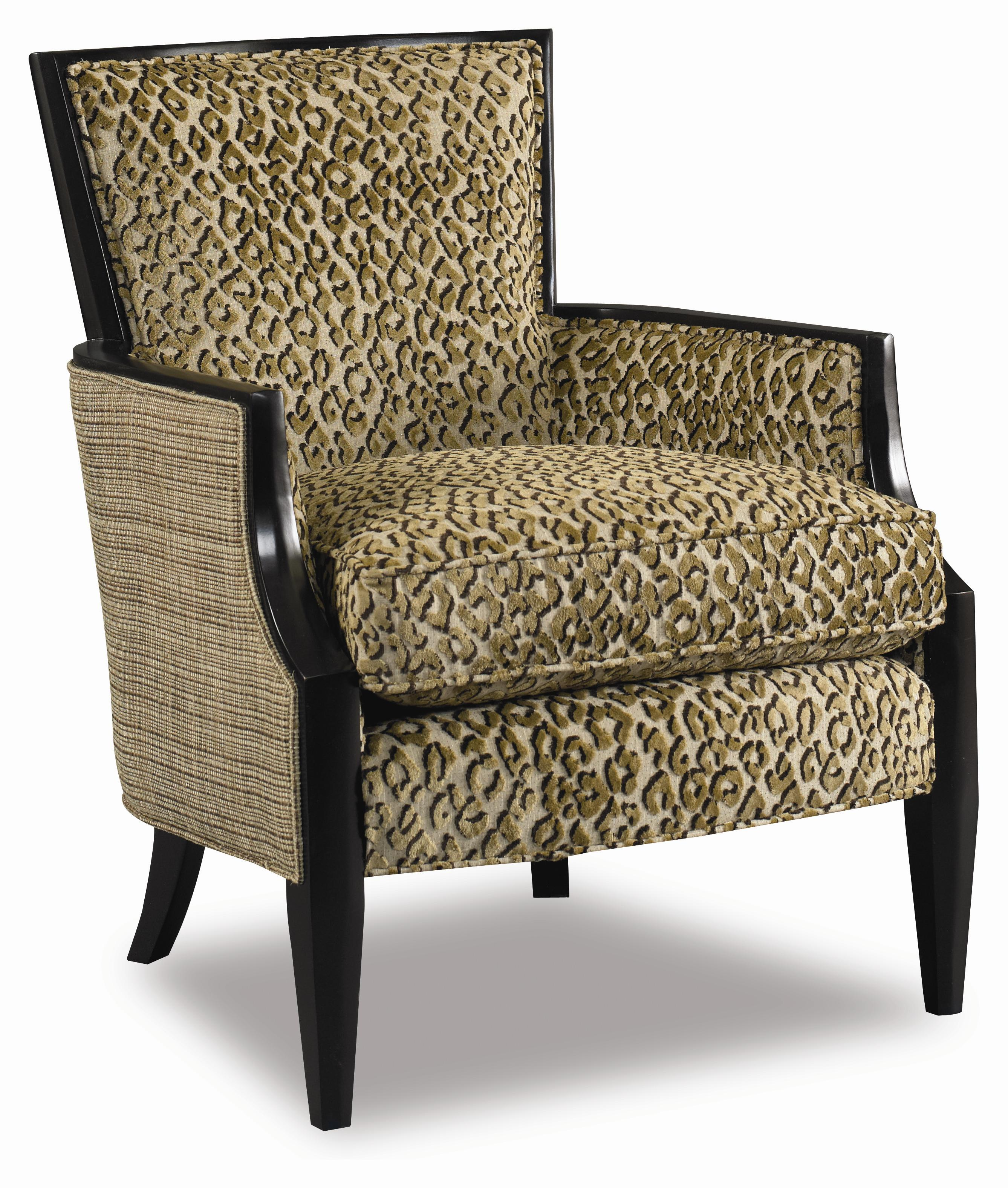 Upholstered Exposed Wood Accent Chair by Sam Moore