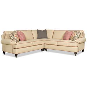 Sam Moore Paulina Traditional Sectional Sofa