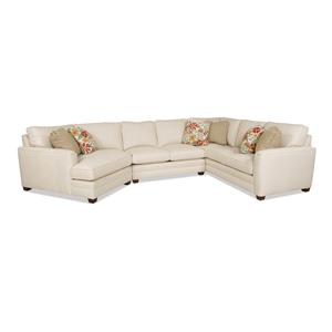 Sam Moore Raleigh Transitional Sectional Sofa