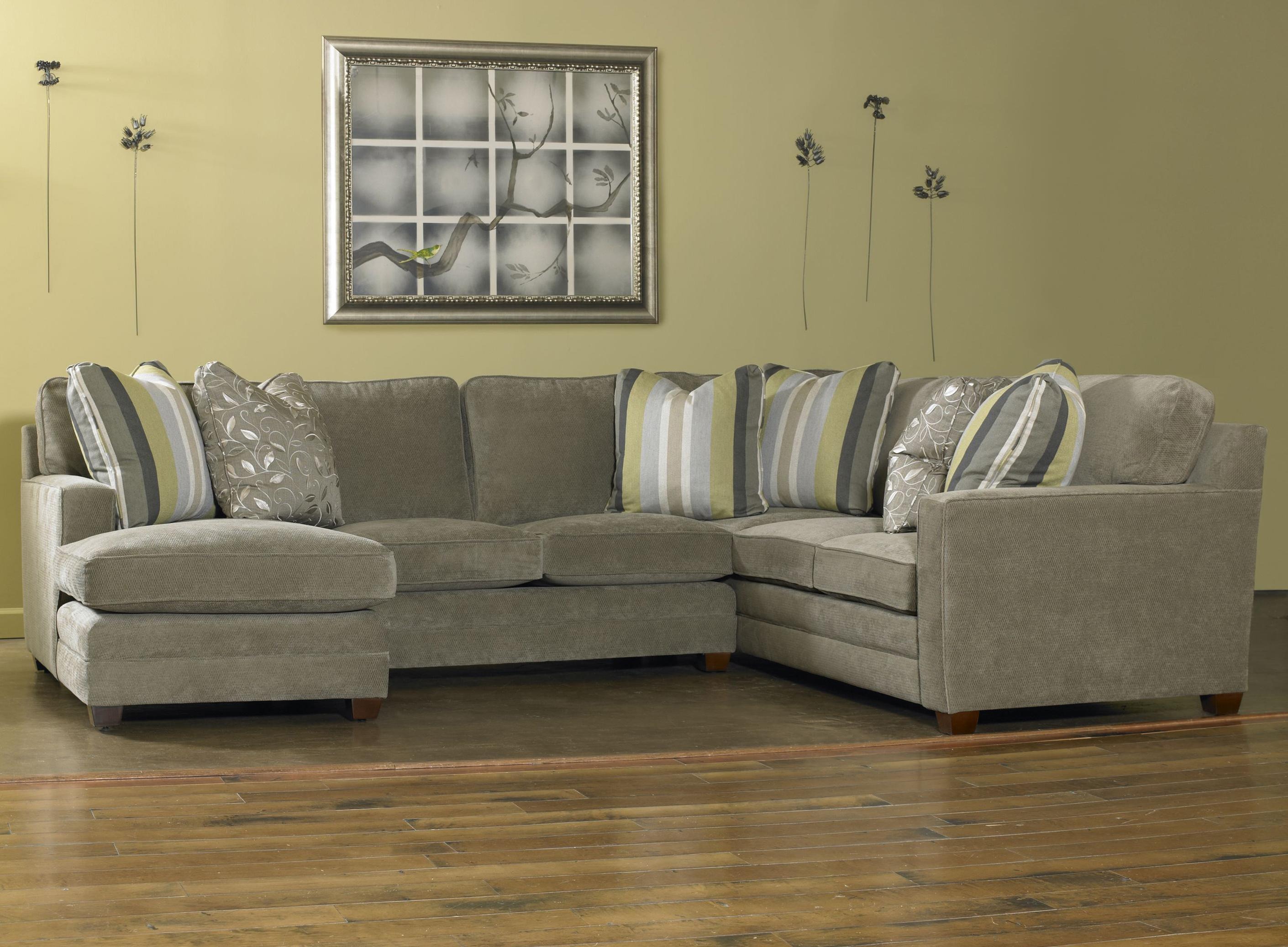 Contemporary Three Piece Sectional Sofa w LAF Chaise by Sam Moore