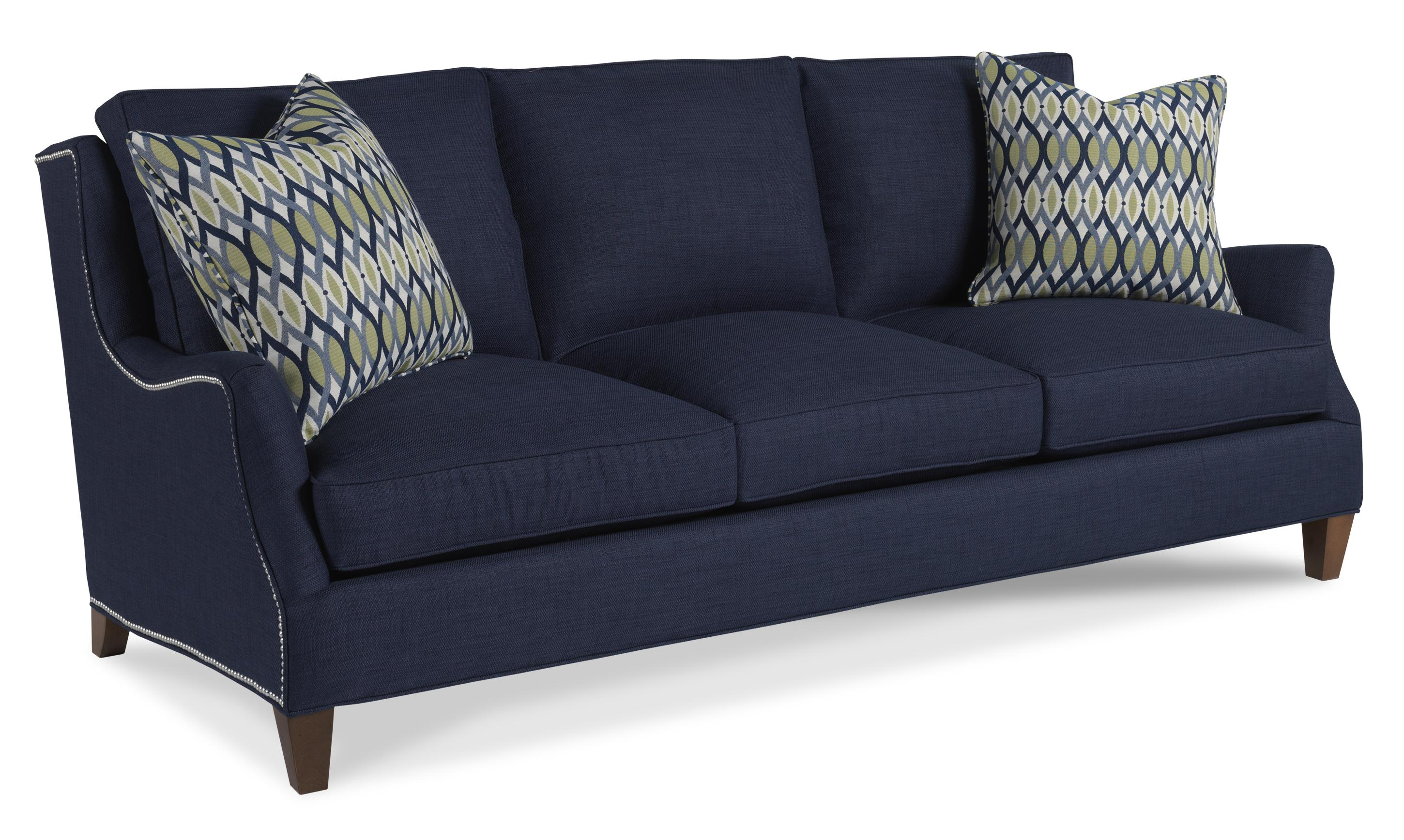 Contemporary Three Seater Sofa with Flair Tapered Arms by Sam