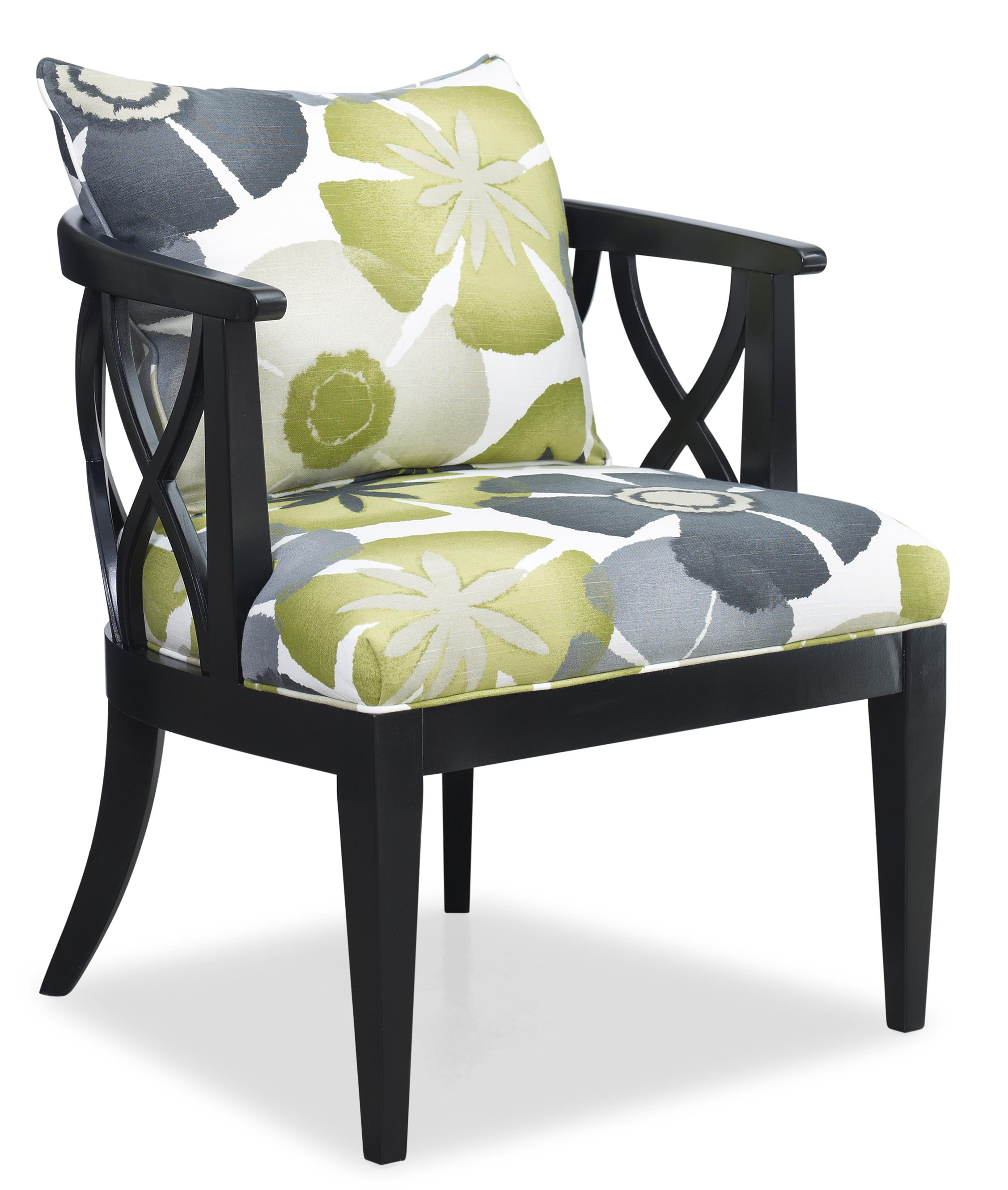 Contemporary X Lattice Chair With Loose Pillow Back