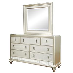 Samuel Lawrence Diva Dresser & Mirror Set
