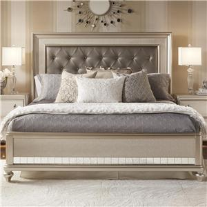 South Beach Queen Panel Bed W Tufted Headboard Morris