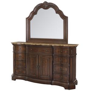 Samuel Lawrence Edington Dresser and Mirror Combo
