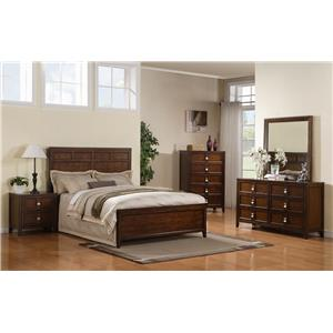 Samuel Lawrence Bayfield Queen Panel Bed, Dresser, Mirror & Nightstan