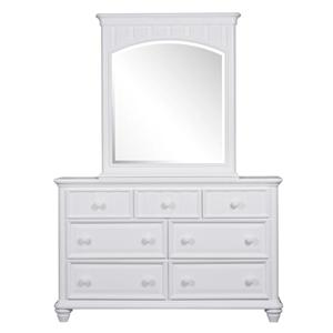 Kidz Gear Campbell White 7 Drawer Dresser & Mirror Set