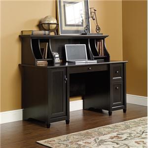 Sauder Edge Water Desk with Hutch