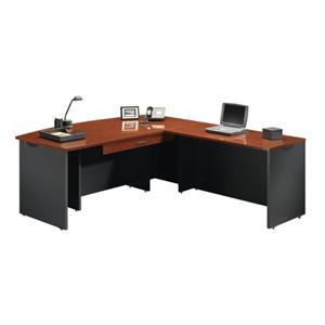 Sauder Home Office Executive Desk with Return and Pencil Drawer