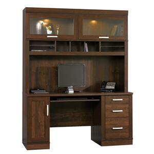 Sauder Office Port Computer Desk with Hutch