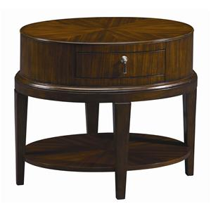 Delightful Oval End Table