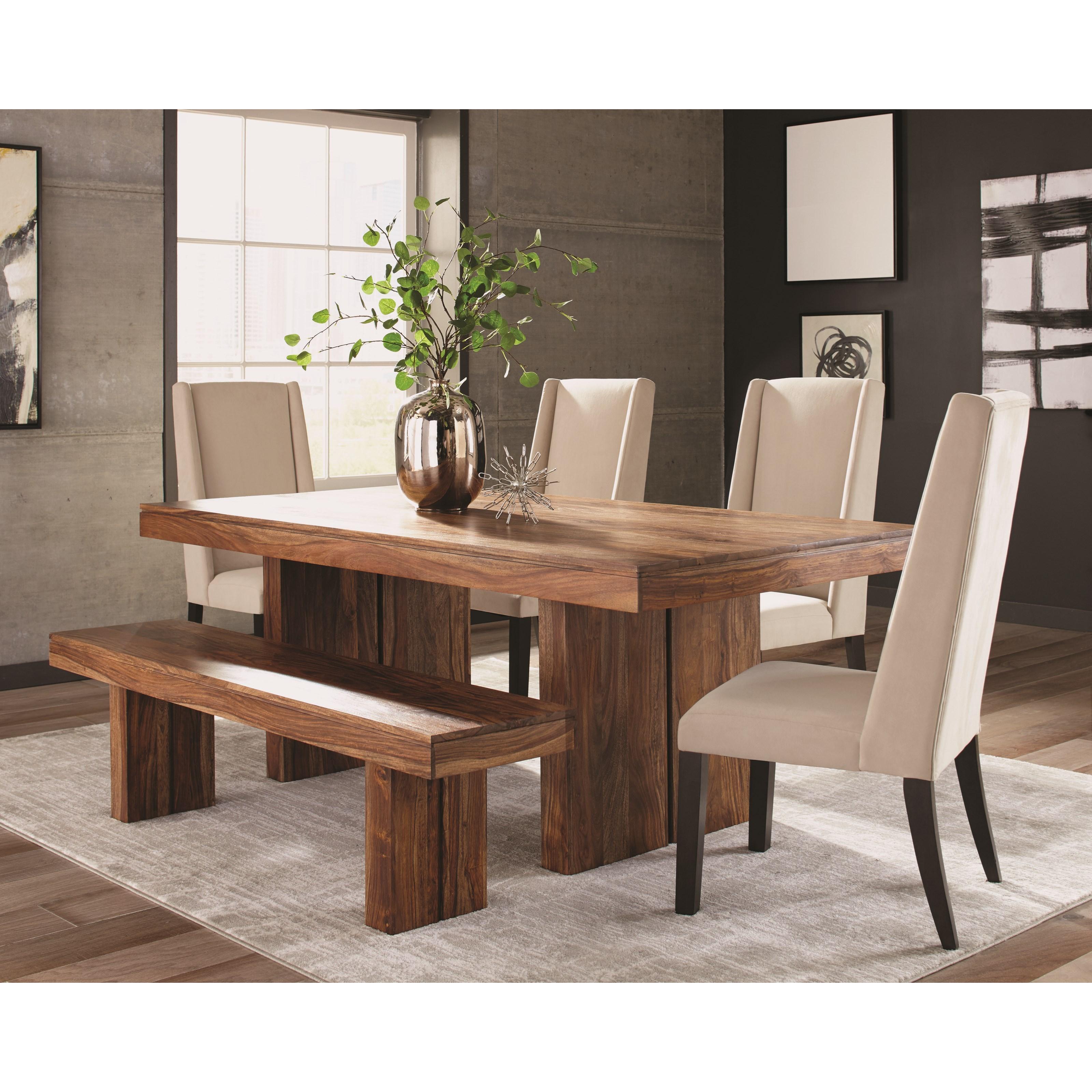 Ordinaire Rustic Sheesham Wood Dining Table
