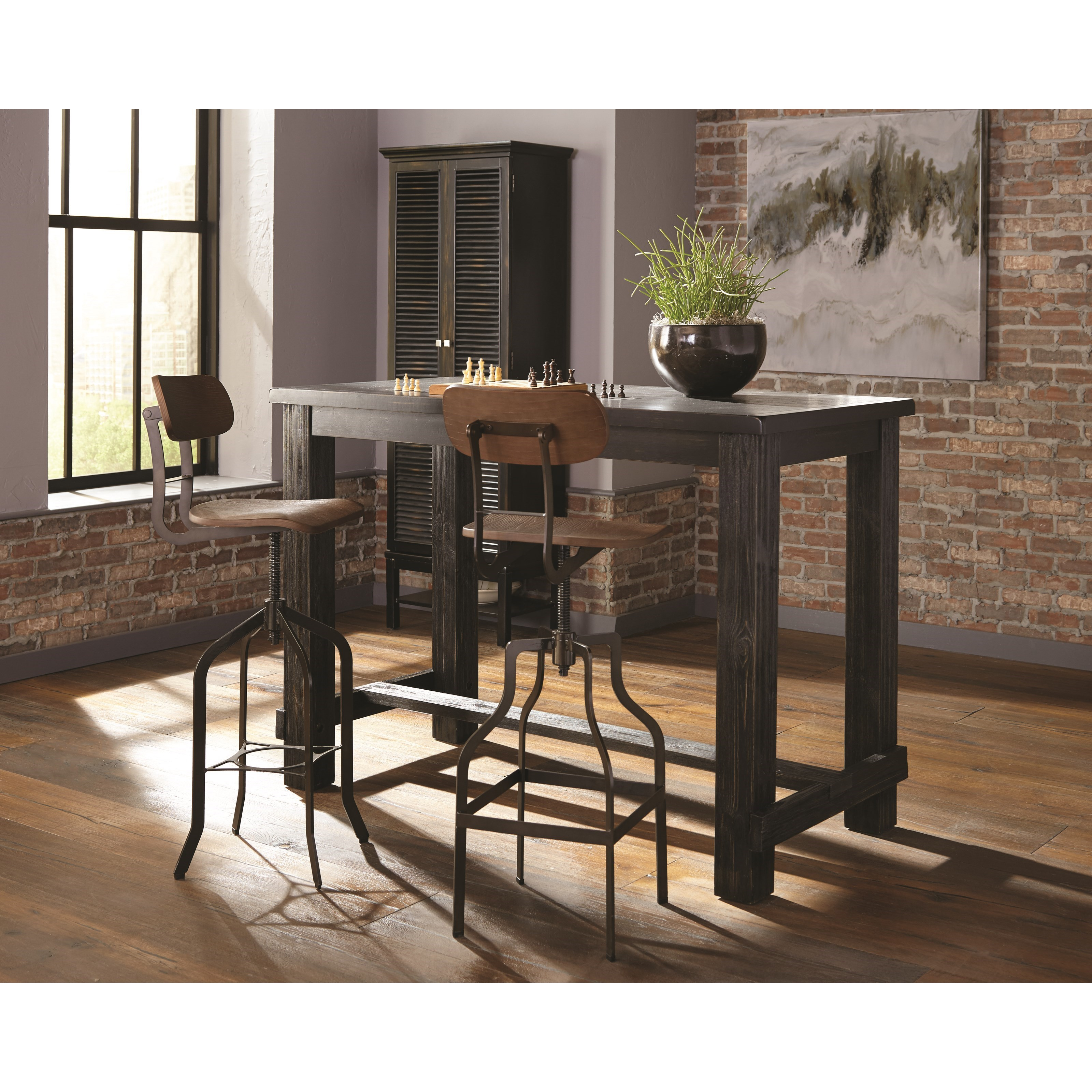 Rustic Craftsman Bar Table