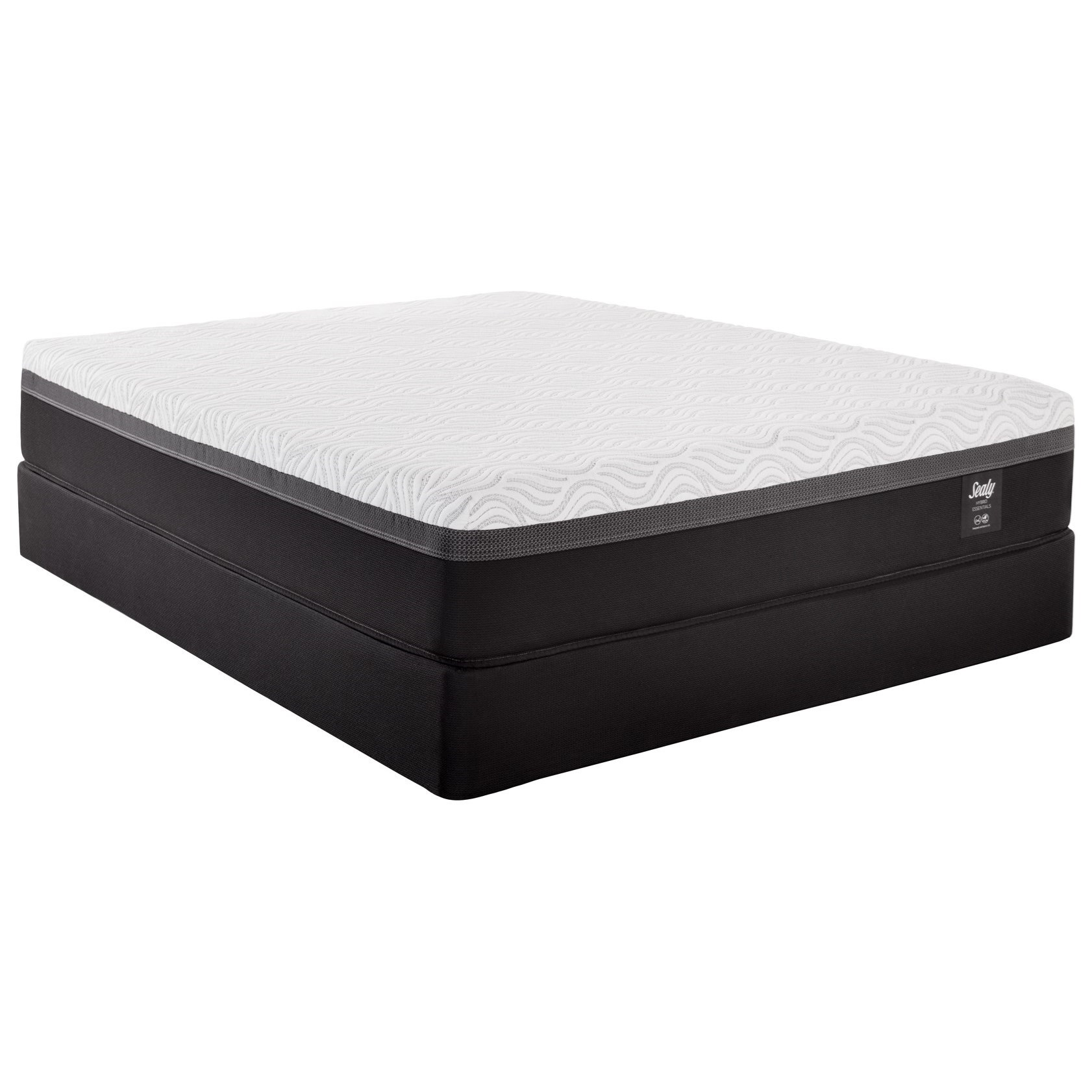 "Queen Essentials Hybrid Mattress and 5"" Low Profile StableSupport Foundation"