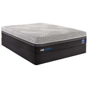 Full Plush Performance Hybrid Mattress and StableSupport Foundation