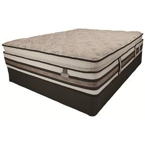 Serta Bellagio at Home iSeries - Briaza - Twin Super Pillow Top Mattress + Base