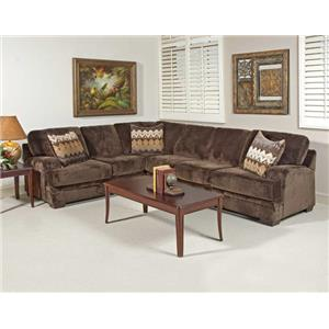 Serta Upholstery by Hughes 8800 Microfiber 2 pc sectional