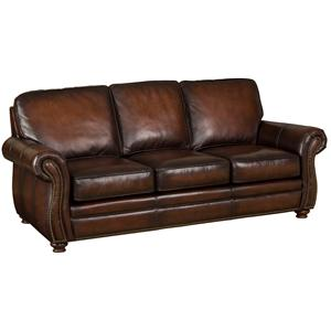Hooker Furniture SS186 Brown Leather Sofa