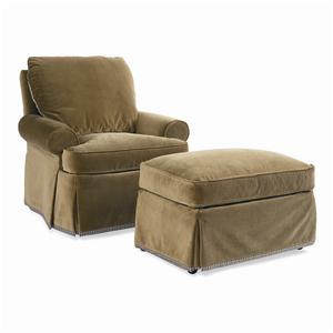 Sherrill Dan Carithers Chair & Ottoman