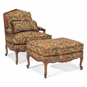 Sherrill Traditional Chair & Ottoman