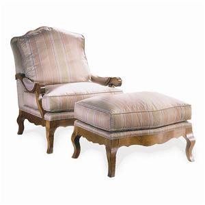 Sherrill Traditional Chair & Ottoman