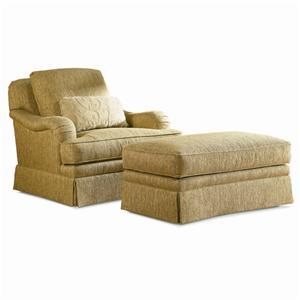 Sherrill Traditional Swivel Chair & Ottoman