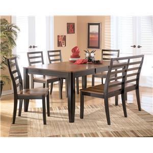 Signature Design by Ashley Furniture Alonzo 6 Piece Rectangular Table Set