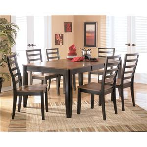 Signature Design by Ashley Alonzo 7 Piece Rectangular Table Set