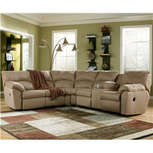 Signature Design by Ashley Amazon - Mocha 2 Piece Sectional Sofa