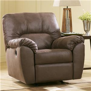 Signature Design by Ashley Furniture Amazon - Walnut Rocker Recliner