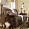 Signature Design by Ashley Furniture Amazon - Walnut Sofa with Pillow Arms - Shown from Side