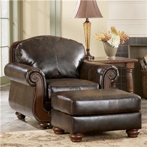 Signature Design by Ashley Furniture Barcelona - Antique Chair & Ottoman