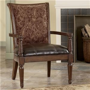 Signature Design by Ashley Furniture Barcelona - Antique Showood Accent Chair