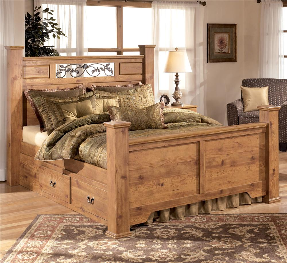 King Poster Panel Bed With Under Bed Storage By Signature