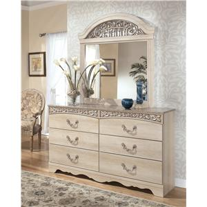 Signature Design by Ashley Catalina B196 Dresser with Mirror