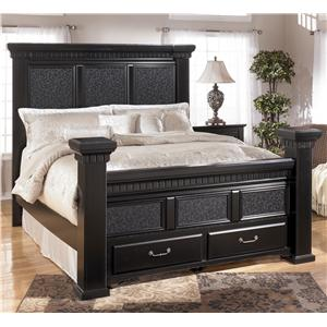 Signature Design by Ashley Cavallino Queen Masion Bed with Storage Footboard