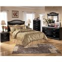 Signature Design by Ashley Constellations 5 Drawer Vertical Chest - Shown with Headboard Bed