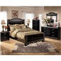 Signature Design by Ashley Constellations 5 Drawer Vertical Chest - Shown with Headboard & Footboard Bed