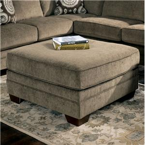 Signature Design by Ashley Cosmo - Marble Large Ottoman