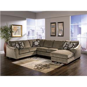 Signature Design by Ashley Furniture Cosmo - Marble Sectional Sofa