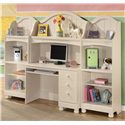 Ashley (Signature Design) Cottage Retreat 4 Shelf Bookcase - Two Bookshelves Shown with Desk & Hutch