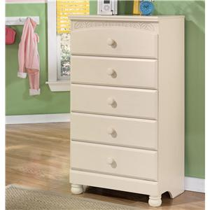 Signature Design by Ashley Furniture Cottage Retreat 5 Drawer Chest