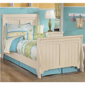 Signature Design by Ashley Furniture Cottage Retreat Twin Sleigh Bed
