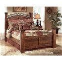 Signature Design by Ashley Timberline Queen Poster Bed - Item Number: B258-77+71N+64N+98N