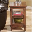 Chairside End Table w/ Shelves