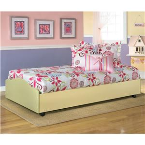 Signature Design by Ashley Doll House Twin Lo-Loft Lower Bed w/ Casters