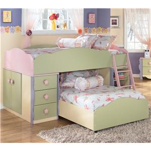 Signature Design by Ashley Doll House Twin Loft Bed
