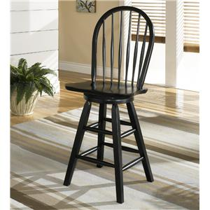 Signature Design by Ashley Furniture Dorie 24 inch Hoop Back Swivel Bar Stool